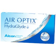 AIR OPTIX plus HydraGlyde contact lenses