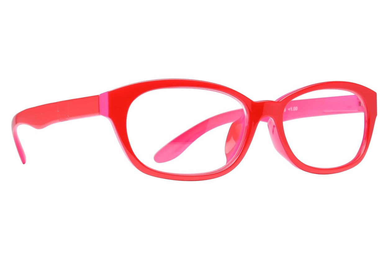 Peepers Good Morning Charlie Reading Glasses  - Red